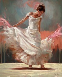 White Dancer by Mark Spain -  sized 24x30 inches. Available from Whitewall Galleries